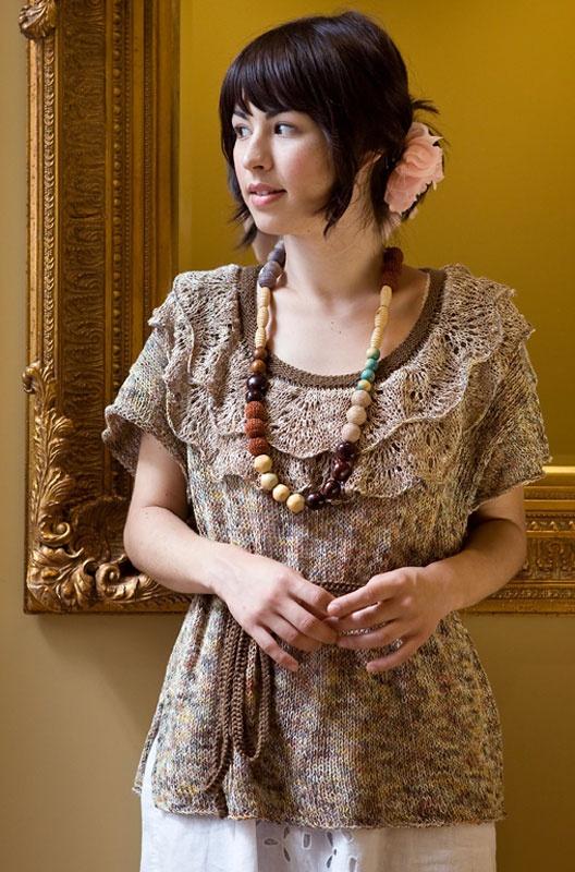 вязанная блуза