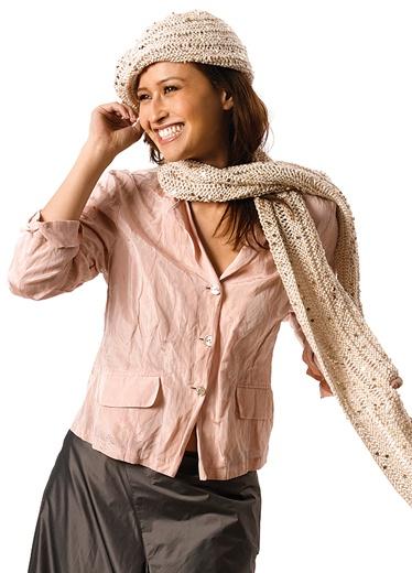 Схема вязания модного берета и