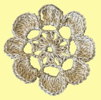 Фрагмент крючком цветок Laurel