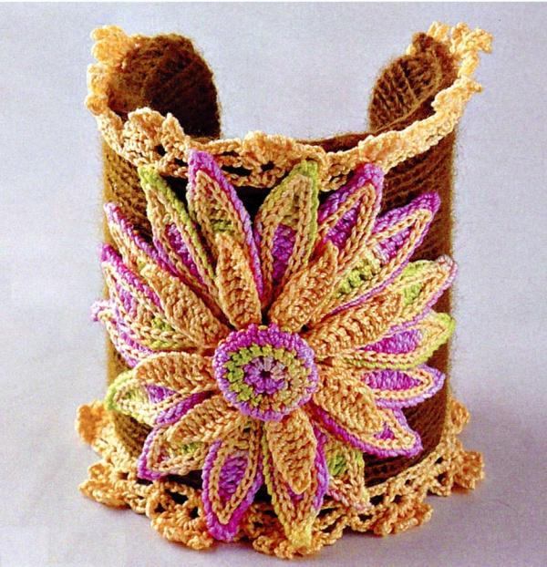 Браслет крючком Lotus - яркий