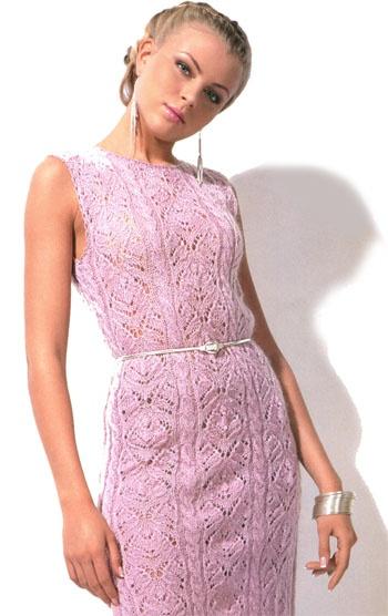 Схема вязания ажурного платья