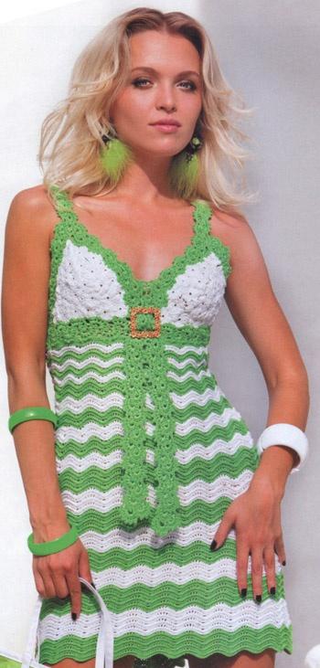 Вяжем летнюю юбку крючком схемы