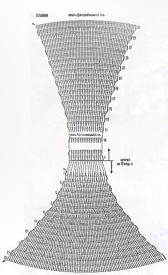 схема вязания купальника бикини Camomile