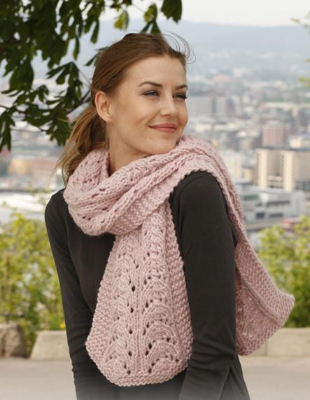 Схема вязания шарфа приведена