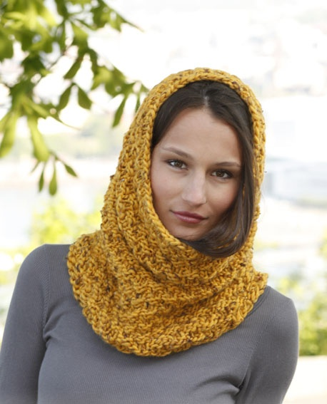 вязание шарфа- хомута