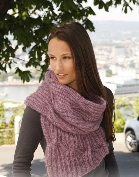 Вязание шарфа Soft Cloud