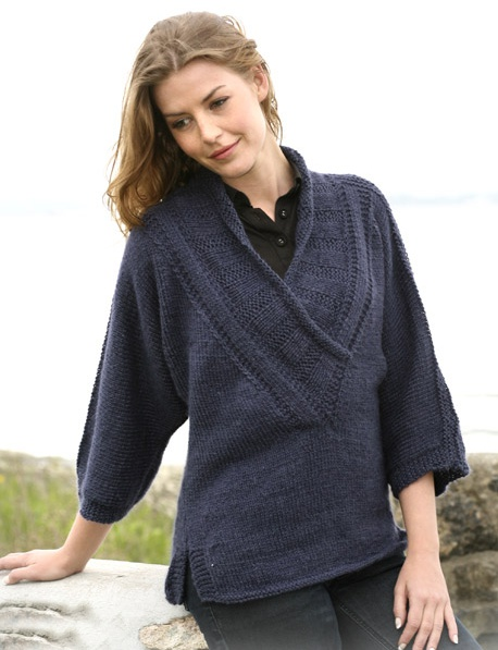 свитер спицами Aleksis