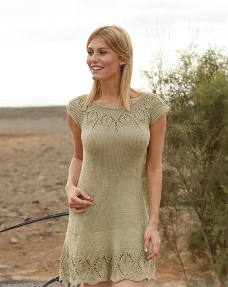 одежда для женщин вязаное платье спицами
