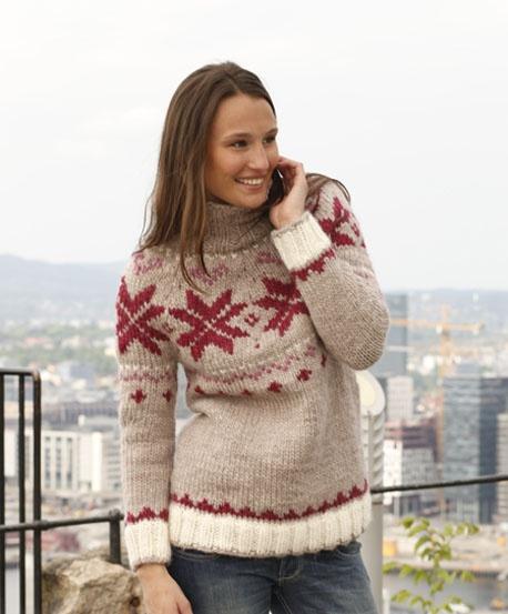Схема вязания свитера Russian