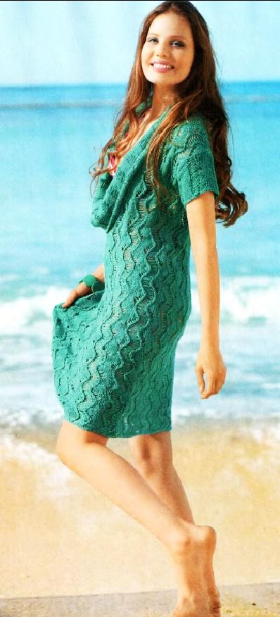 Схема вязания платья Summer