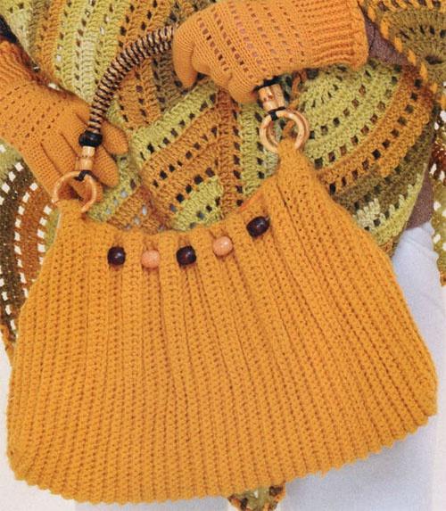 вязание сумочки крючком
