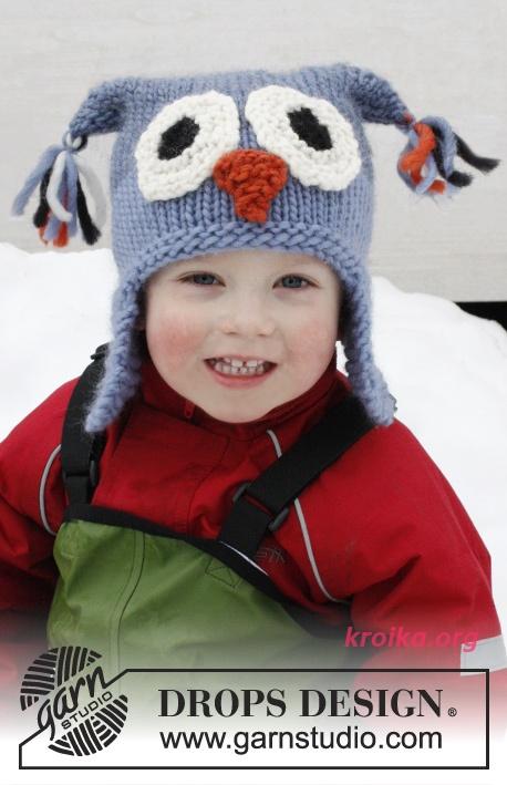 Детская шапка сова спицами