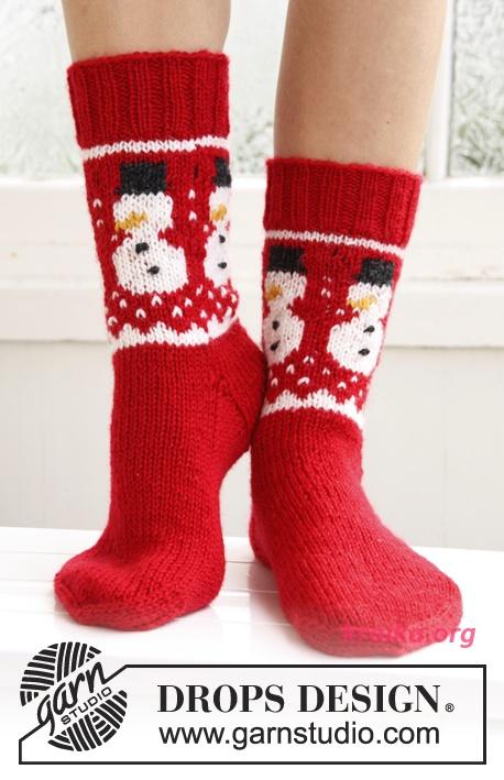 Носки с рисунком снеговик Snow
