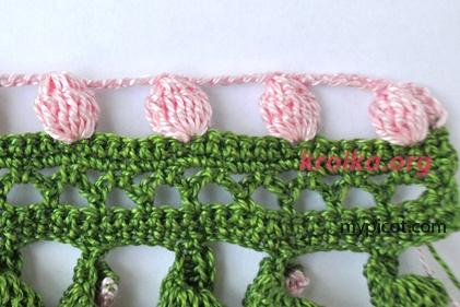 вязание шишечек