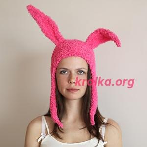 шапка кролик Банни
