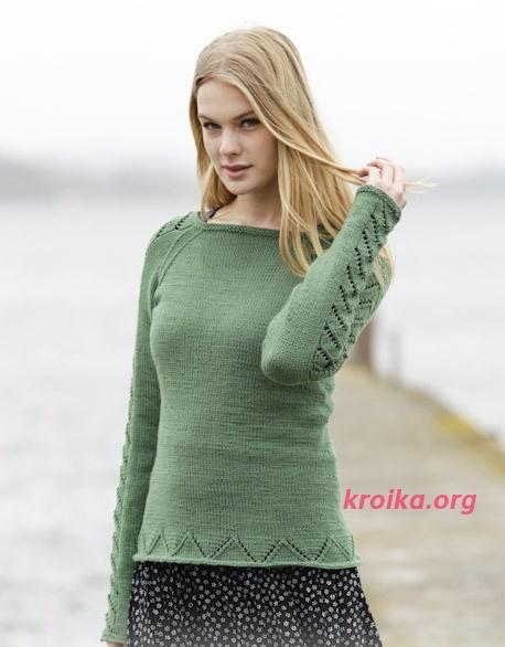 схема вязания свитер Green Forest
