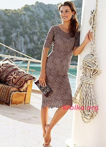 Схемы вязания платьев 90