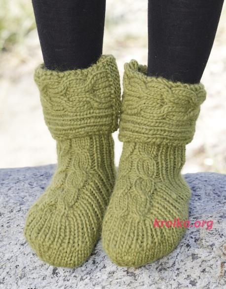 Как вязать носки спицами подробная схема