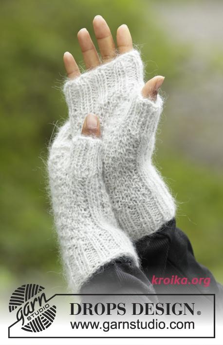 варежки описание вязания перчатки связанные спицами митенки