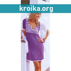 Вязаное платье   Summer memory