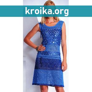 Такая модель вязаного платья