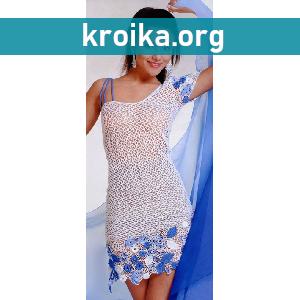 Платье крючком  Amazon на одно плечо