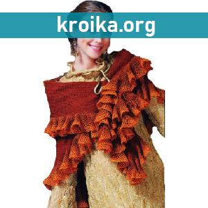 Схемы вязания шалей крючком.