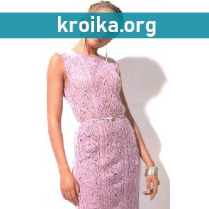 Ажурное вязаное платье Kiss