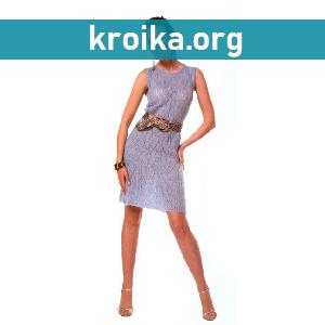 Ажурное вязаное спицами платье