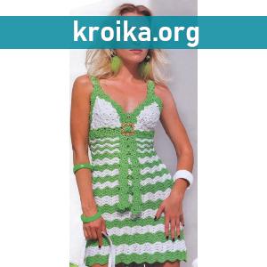 Схема вязания платья крючком Flash