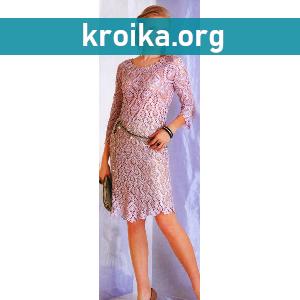 Ажурное вязаное платье крючком Pineapple