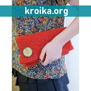 Вязаная сумка клатч Kokettera