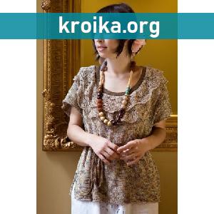 Вязаная блуза Basque