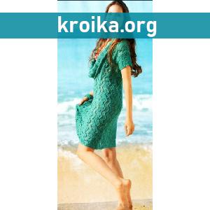 Схема вязания платья Summer Leaf