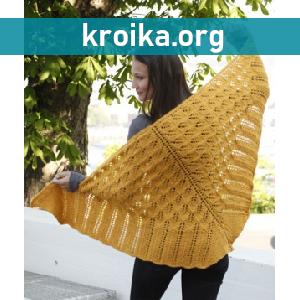 Схема вязания шали Andalousie