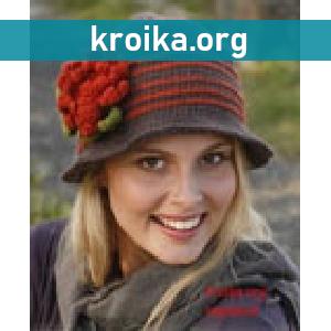 Тёплая шляпа вязаная Miss Potter