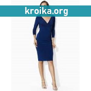 Темно синее платье от украинских дизайнеров