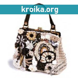 Обзор модных вязаных сумочек 2014