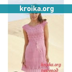Вязаное платье Yours Truly. Как связать платье спицами
