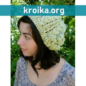 Ажурная вязаная спицами шапка  Insou
