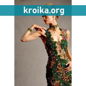 Вышивка бисером в модной одежде