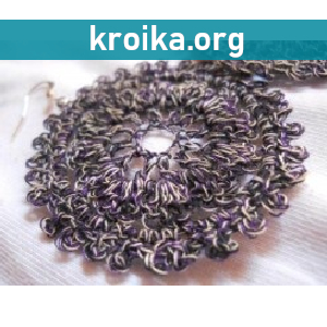 Вязание сережек My favorite ring