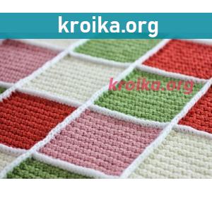 Вязание крючком. Как соединить квадраты