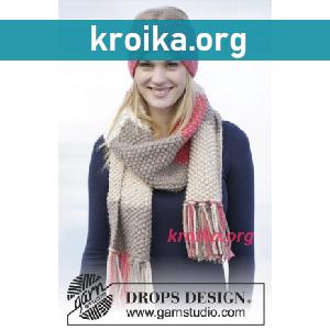 шарфы и капюшоны спицами шарф спицами схема вязания вязаные модели