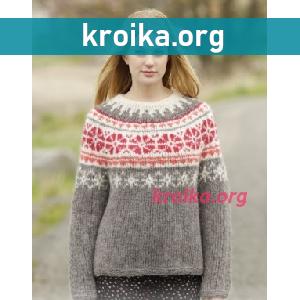 Вязание свитера Petunia