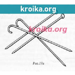 Набор петель на спицы с двумя рабочими концами