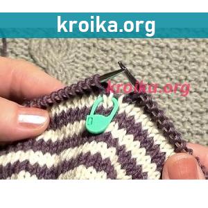 Вязание полосок