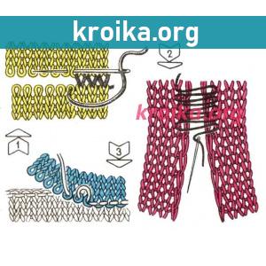 Боковой шов вязания