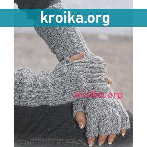 Вязание большого пальца митенки спицами