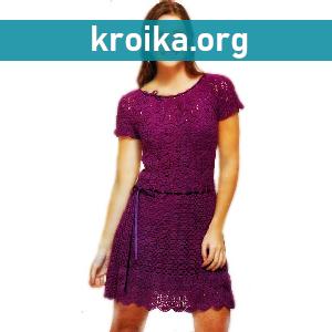 Вязаное платье крючком Lilac